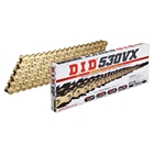 DID VX Series Chain 530VX Gold [with Light Press Fit Clip (FJ) Joint]