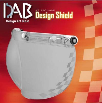 DAB Design 安全帽鏡片 方格紋 淡墨色