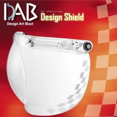 DAB Design 安全帽鏡片 方格紋 透明
