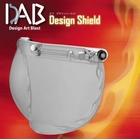 【JP Moto-Mart】DAB Design 安全帽鏡片 火焰紋 淡墨色