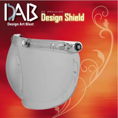 DAB Design 安全帽鏡片 藤蔓花紋 淡墨色