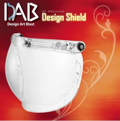 DAB Design 安全帽鏡片 藤蔓花紋 透明