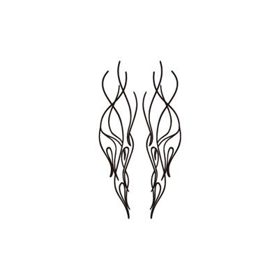 Pinstripe・Fire pattern・貼紙