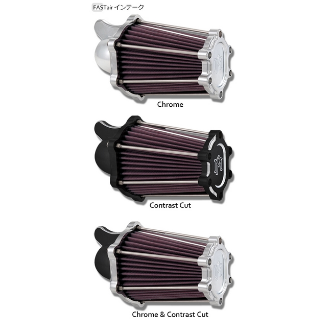 【PerformanceMachine】Sportster用 FASTair Intake 空氣濾清器 (Contrast-Cut) - 「Webike-摩托百貨」