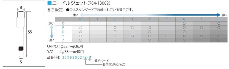 TM N/J 784-13002 P-0 油針