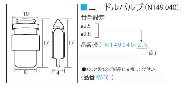 止油針閥組#2.8(TM36-40 單件)