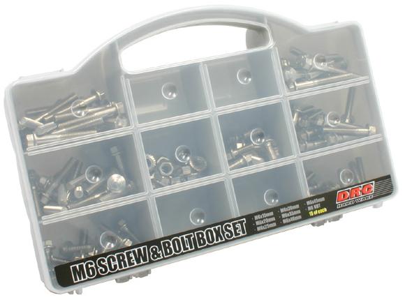 不鏽鋼螺絲&螺帽 盒裝組(平頭螺絲組)