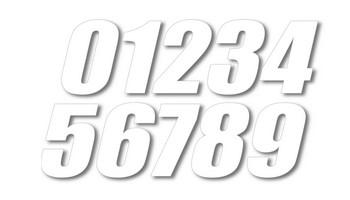 Super cross 號碼貼紙