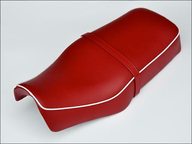 復古風雙座墊 紅色 附皮帶