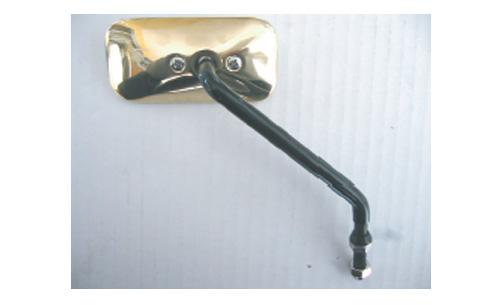 黃銅鑄造後視鏡 黑色電鍍支架/方型 (右側)
