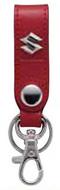 皮革吊環式鑰匙圈-紅色 <SEA BASS>