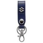 【SUZUKI 日本鈴木】皮革吊環式鑰匙圈-藍色 <SEA BASS>