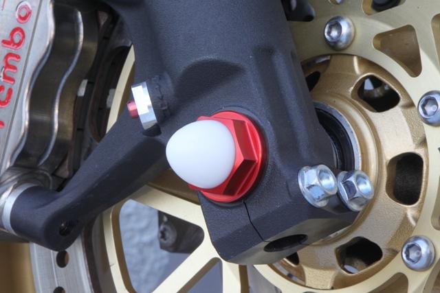 M18 鋁合金前軸螺絲 (紅色)