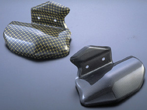 【RidingHouse】碳纖維排氣管防燙蓋 (左) - 「Webike-摩托百貨」