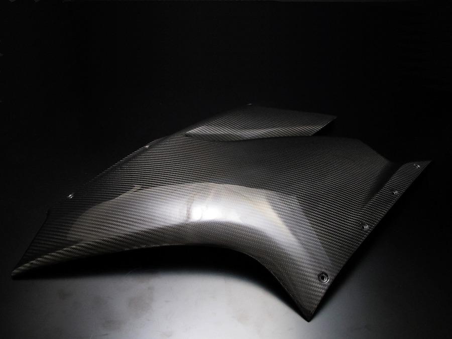 霧面乾式碳纖維側面板上側 左右組