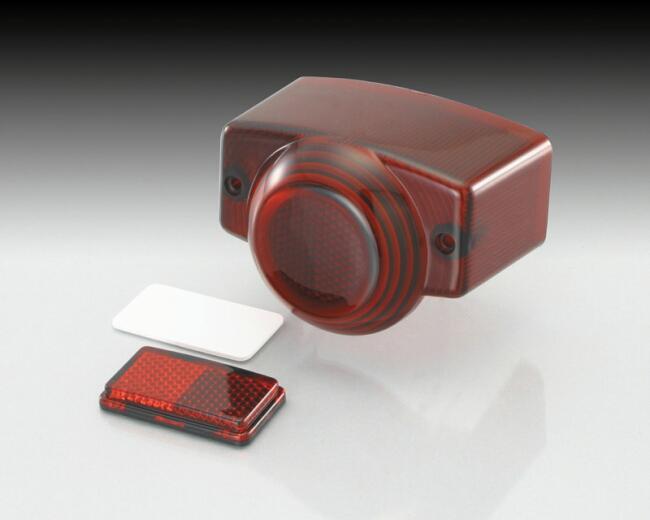 紅色燻黑尾燈殼組