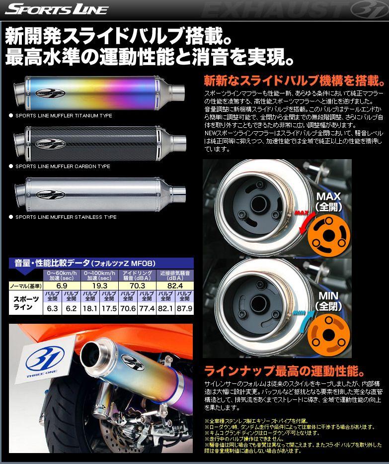 【31】Sports Line 全段排氣管 - 「Webike-摩托百貨」