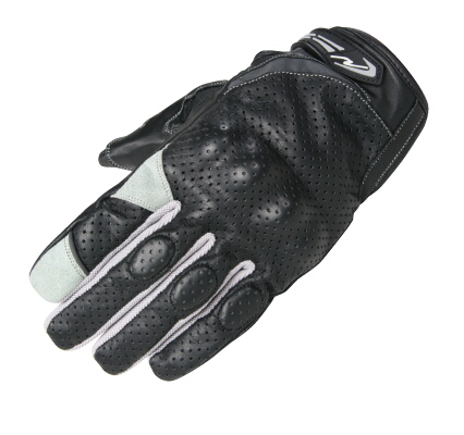舒適關節防護皮革打孔手套