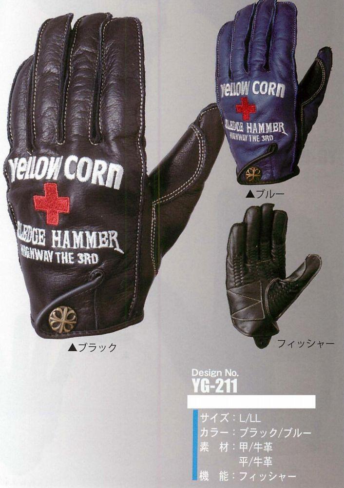 【YELLOW CORN】 YG-211 手套 - 「Webike-摩托百貨」