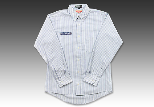 【BREDGE】【BREDGE×RED KAP】 OxfordBD襯衫 條紋 - 「Webike-摩托百貨」