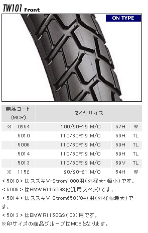 TRAIL WING TW101輪胎