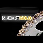 EK Chain QX ring Chain Silver &amp; Gold 525 SRX ( CR / GP )