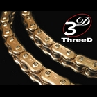 EK Chain Three D (Slead) Chain 525 Z ( GP / GP ) Gold