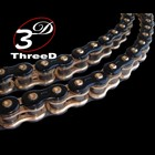 EK Chain Three D (Slead) Chain 520 Z Black &amp; Gold