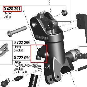 【195 輻射式主缸】用維修部品 油管接頭用O環