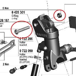 【195 輻射式主缸】用維修部品 拉桿螺絲套件