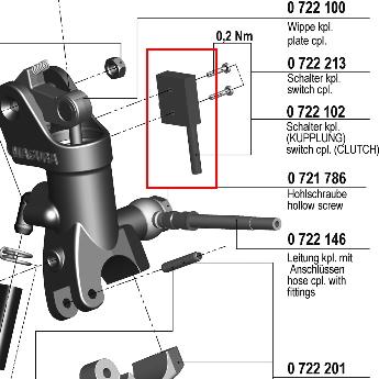 【195 輻射式主缸】用維修部品 煞車用開關套件
