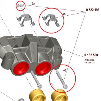 【750 輻射式卡鉗】用維修部品 煞車來令片叉銷&彈簧套件