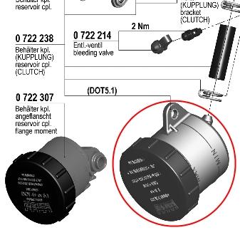【195 輻射式主缸】用維修部品 煞車用油壺套件 (油管安裝型)