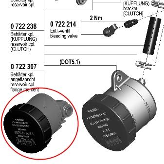 【195 輻射式主缸】用維修部品 煞車用油壺套件 (直接安裝型)
