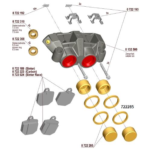 【MAGURA】【750 輻射式卡鉗】用維修部品 活塞油封 - 「Webike-摩托百貨」