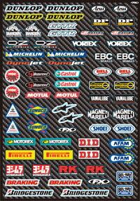 贊助商貼紙套件 Street Micro sponsor