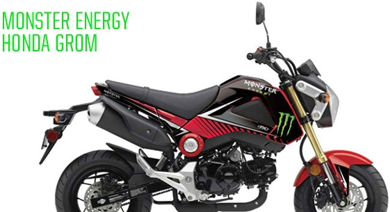 HONDA GROM Monster Energy 系列車身貼紙