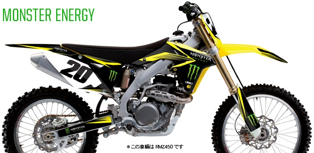 SUZUKI MONSTER ENERGY 車身貼紙