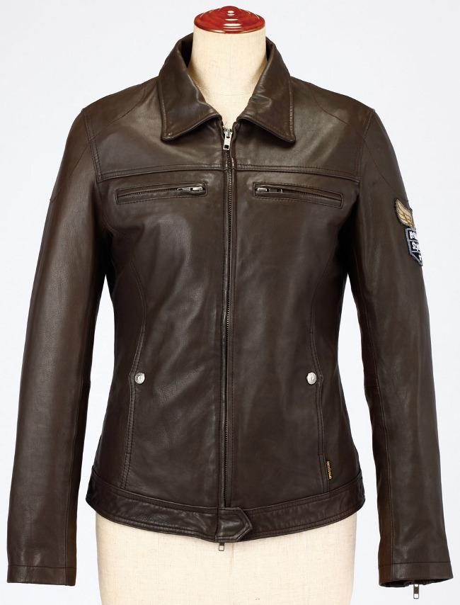單層皮革外套