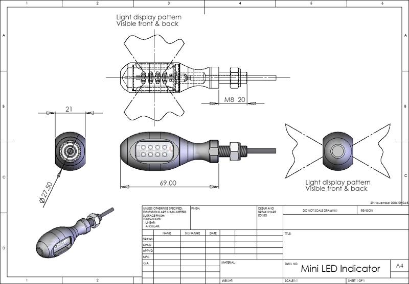 【ODAX】LED 2 WAY 方向燈 - 「Webike-摩托百貨」