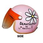 【DAMMFLAPPER】花朵ー四分之三安全帽