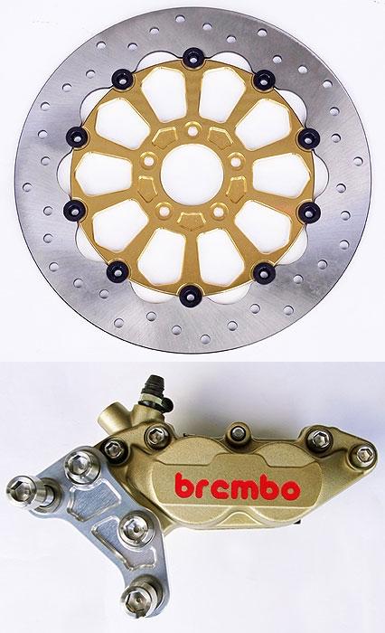 煞車碟盤&Brembo 煞車卡鉗套件