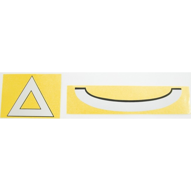 三角警示貼紙