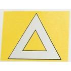 【CF POSH】三角警示貼紙