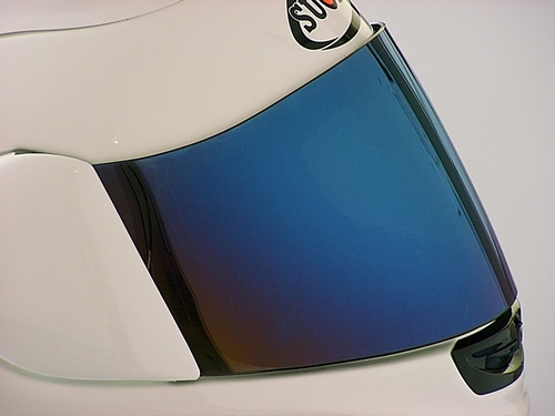 安全帽鏡面鏡片(藍色鏡面鍍膜)