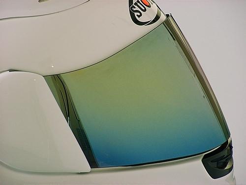 安全帽鏡面鏡片(金色鏡面鍍膜)