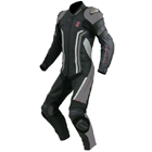 KOMINE S - 46 Titanium leather suit EPI leather Black,