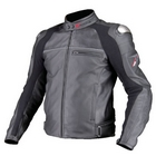 KOMINE JK-533 Titanium Leather Jacket LEVATA HP (with Punching Leather/Aerodynamics Pads)