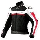 KOMINE JK - 061 Leather mesh jacket TITANITE α