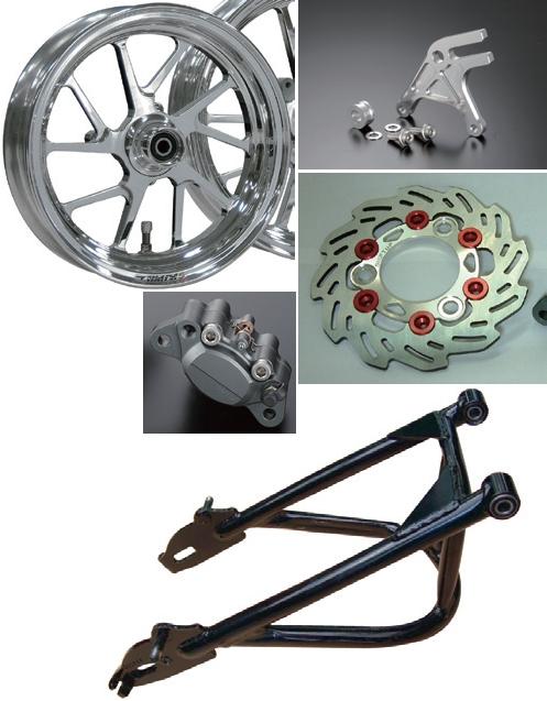 長搖臂及穩定器/GALE SPEED 後輪框套件